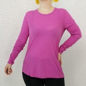 James Perse raspberry pink longsleeve shirt